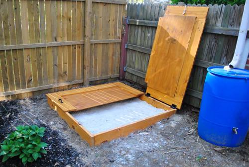 DIY Sandbox Cover  How To Build A Sandbox Part 2