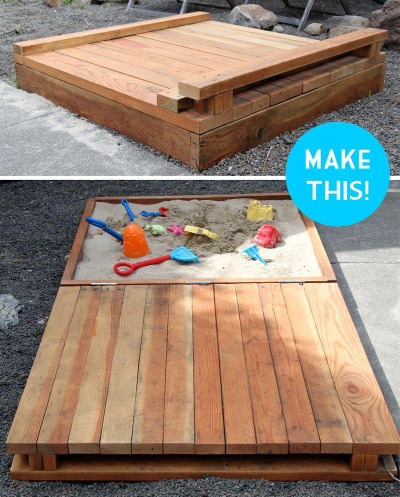 DIY Sandbox Cover  Make sandbox