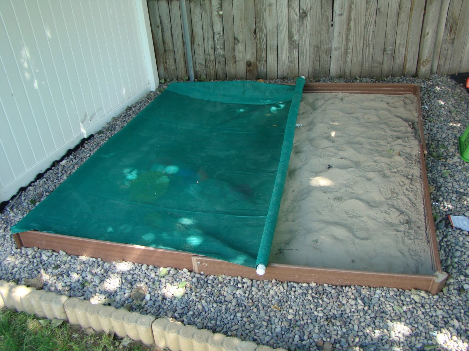 DIY Sandbox Cover  What have I done now Roll Away Sand Box Cover