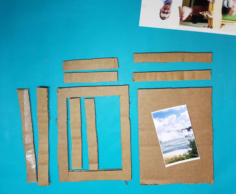 DIY Shadow Box Picture Frame  DIY Shadow Box Frame from Cardboard Moms and Crafters