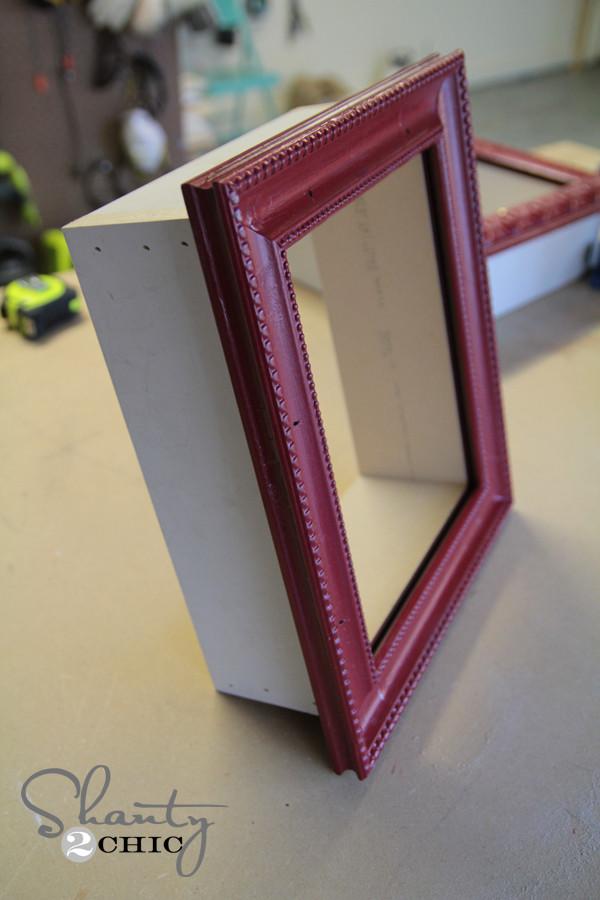 DIY Shadow Box Picture Frame  DIY Frame Shelves Shanty 2 Chic