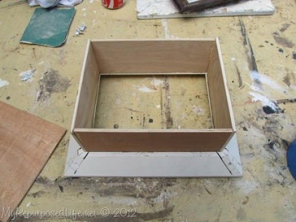 DIY Shadow Box Picture Frame  diy shadow box frame My Repurposed Life