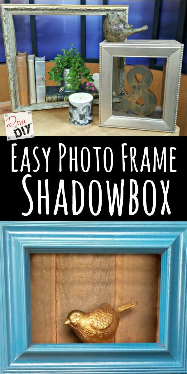 DIY Shadow Box Picture Frame  Easy Frame Shadow Boxes How to Display Your