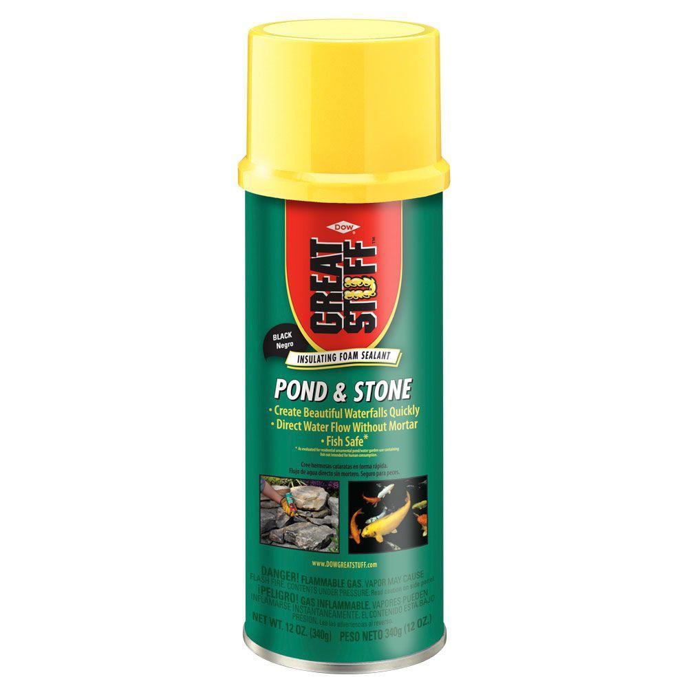 DIY Spray Foam Insulation Home Depot  GREAT STUFF 12 oz Pond and Stone Insulating Foam Sealant