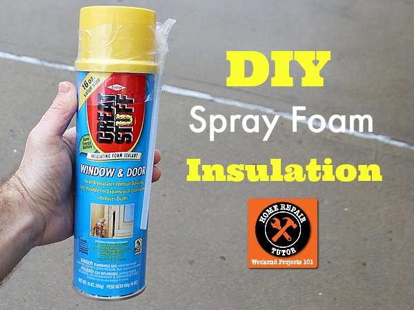 DIY Spray Foam Insulation Home Depot  DIY Spray Foam Insulation