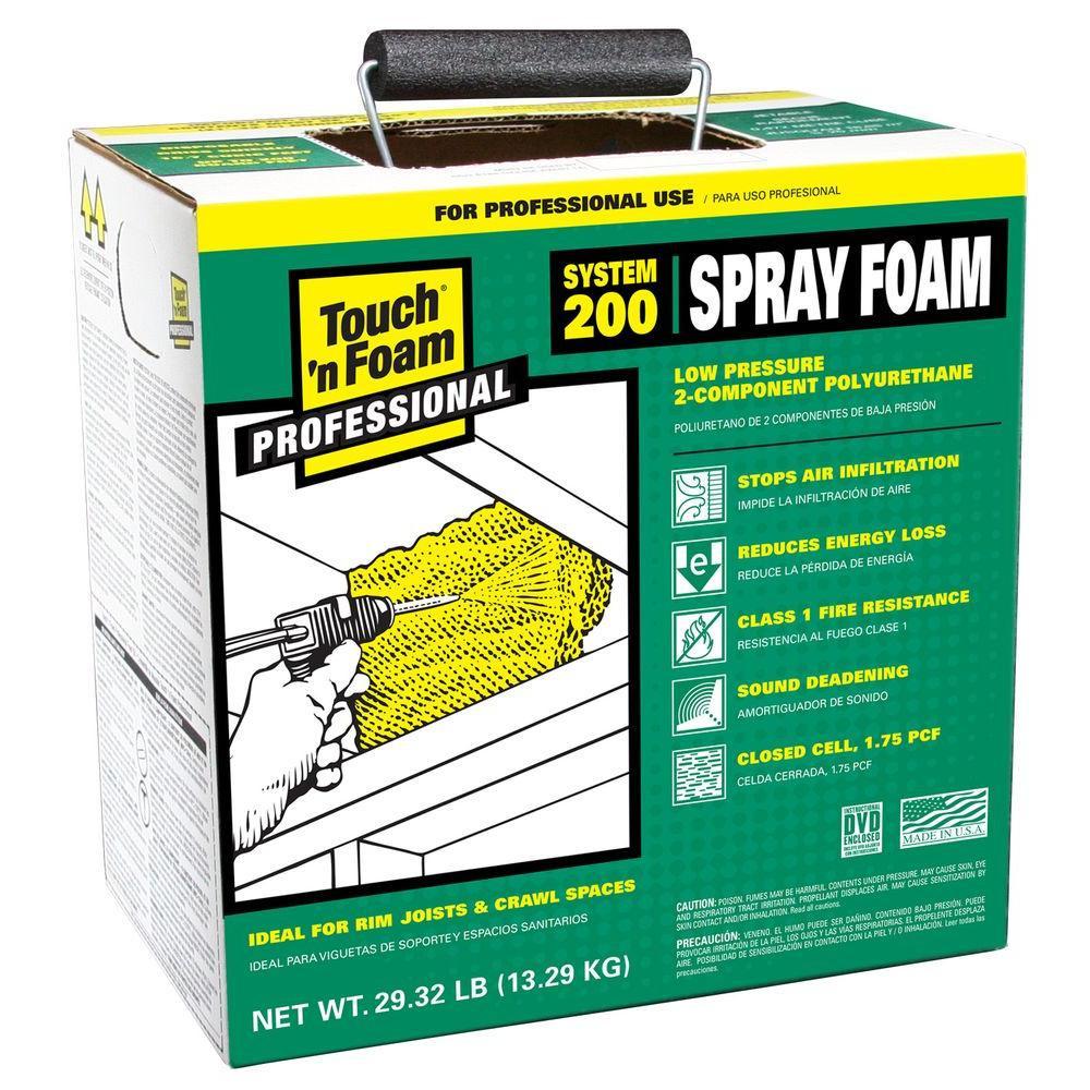 DIY Spray Foam Insulation Home Depot  Touch n Foam 200 ft Board Polyurethane 2 ponent Spray