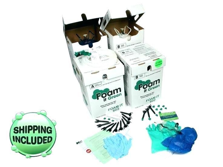 DIY Spray Foam Insulation Home Depot  Board Polyurethane 2 ponent Spray Foam Kit Insulation