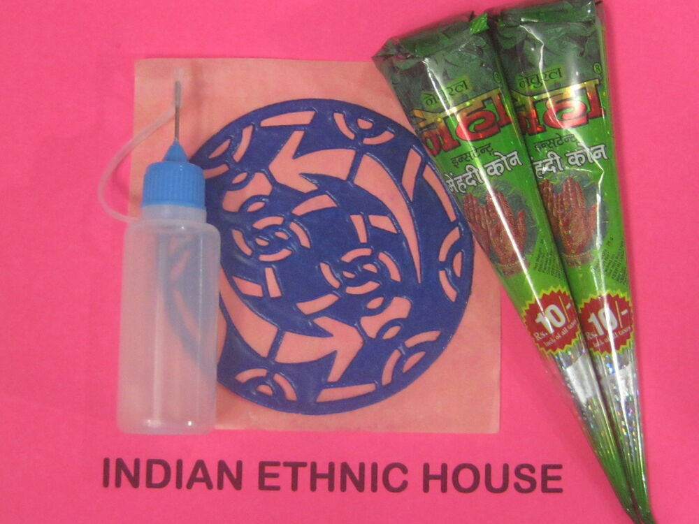 DIY Tattoo Kit  Herbal Henna Cones Temporary Tattoo kit Body Art Mehndi