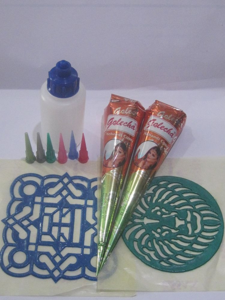 DIY Tattoo Kit  Temporary henna tattoo kit Cone applicators tips