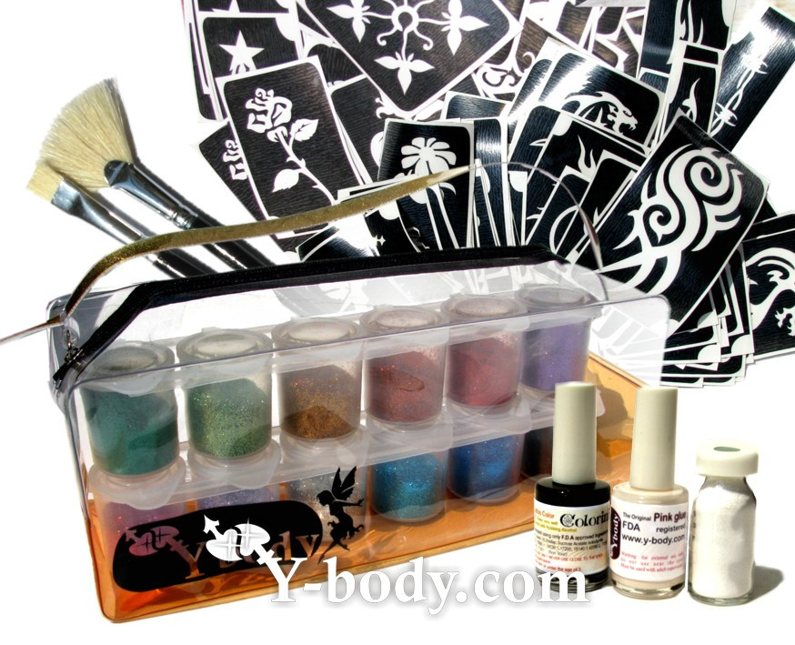 DIY Tattoo Kit  Glitter Tattoo Glitter Tattoos Glitter Tattoo Kits Glitter