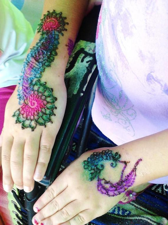 DIY Tattoo Kit  Items similar to Henna Tattoo and Glitter Tattoo Kit with