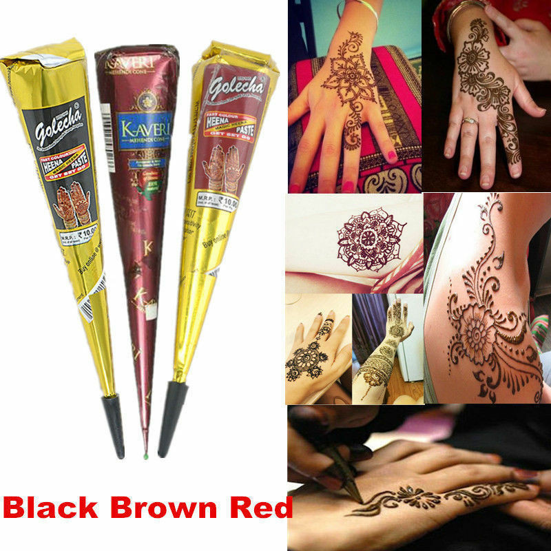 DIY Tattoo Kit  Temporary Tattoo kit DIY Natural Herbal Henna Cones Body