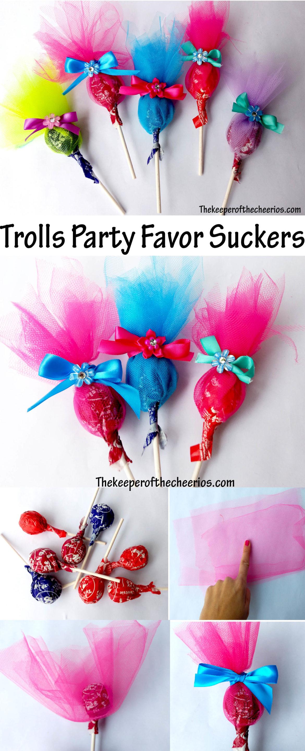 Diy Trolls Party Ideas  Trolls Party Favor Suckers