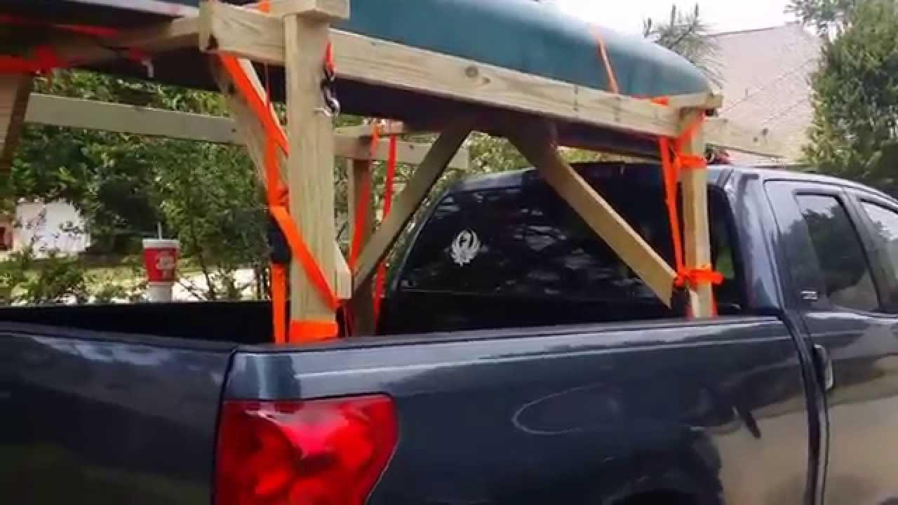 DIY Truck Rack  DIY Home made canoe kayak rack