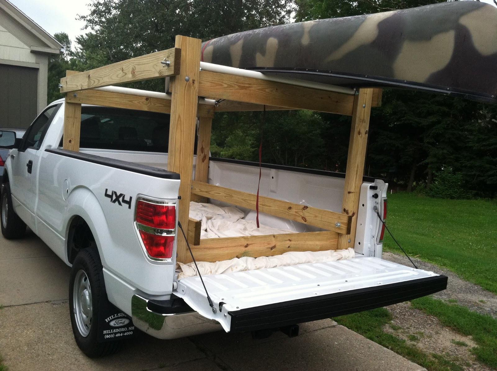DIY Truck Rack  Howdy Ya Dewit Easy Homemade Canoe Kayak Ladder and