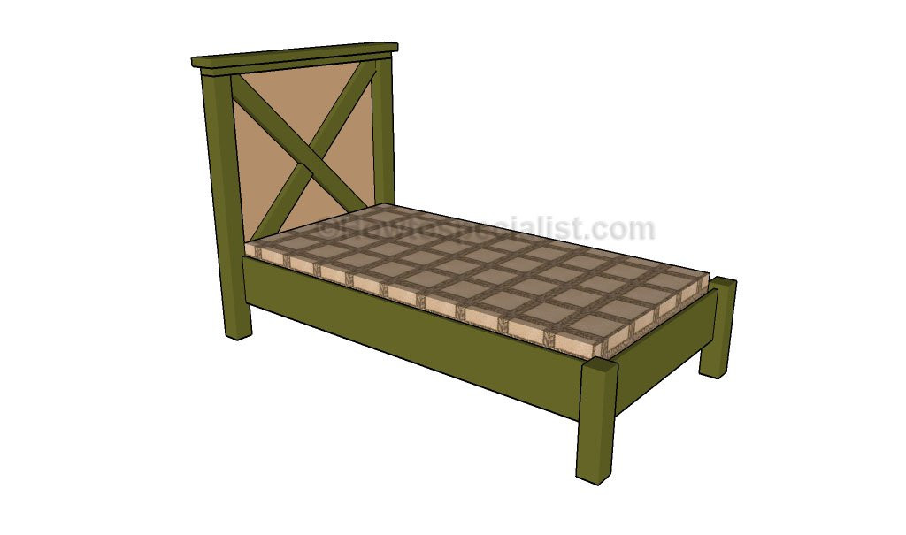 DIY Twin Bed Frame Plans  Twin Size Bed Frame Plans