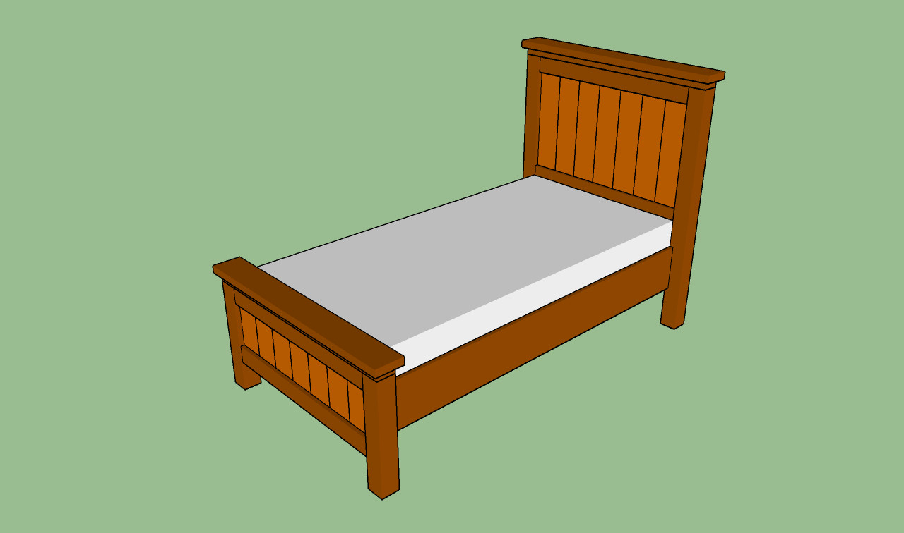 DIY Twin Bed Frame Plans  How to build a twin bed frame