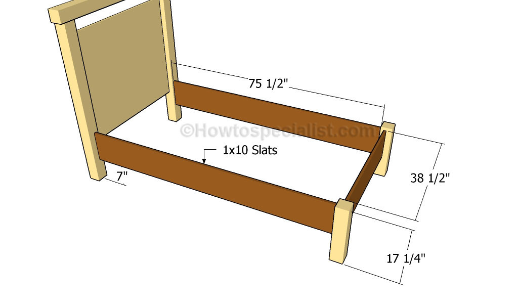 DIY Twin Bed Frame Plans  Build A Twin Bed Frame Na rybyfo