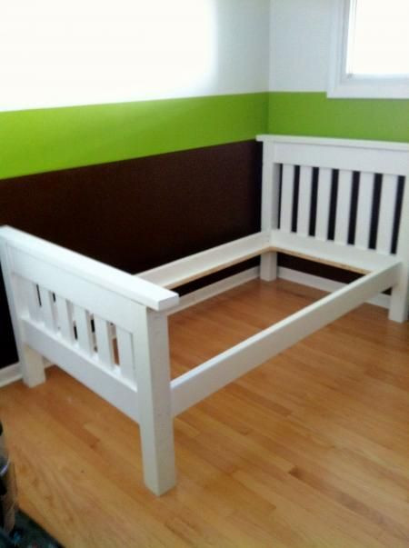 DIY Twin Bed Frame Plans  Finished the Simple Bed Twin