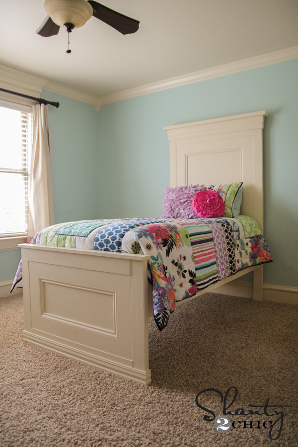 DIY Twin Bed Frame Plans  AMAZING DIY Twin Bed Shanty 2 Chic