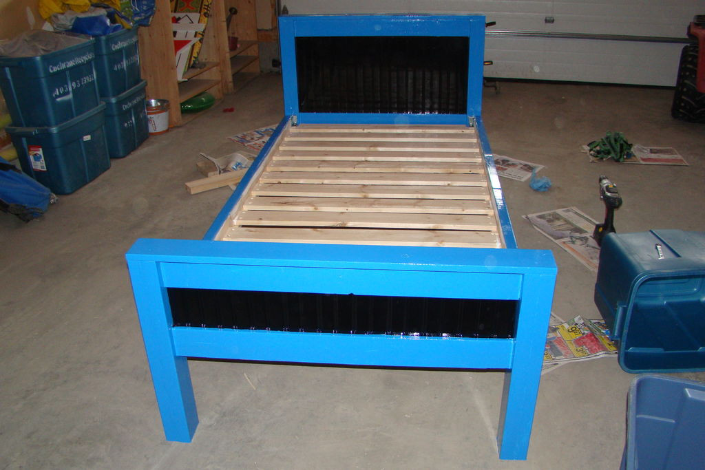 DIY Twin Bed Frame Plans  How To Build A Twin Size Bed Plans DIY Free Download Build