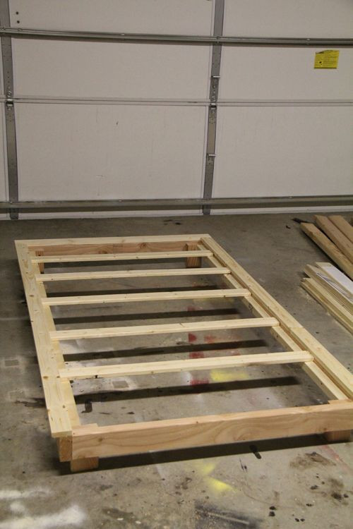 DIY Twin Bed Frame Plans  How To Build A Twin Bed Frame With Trundle WoodWorking