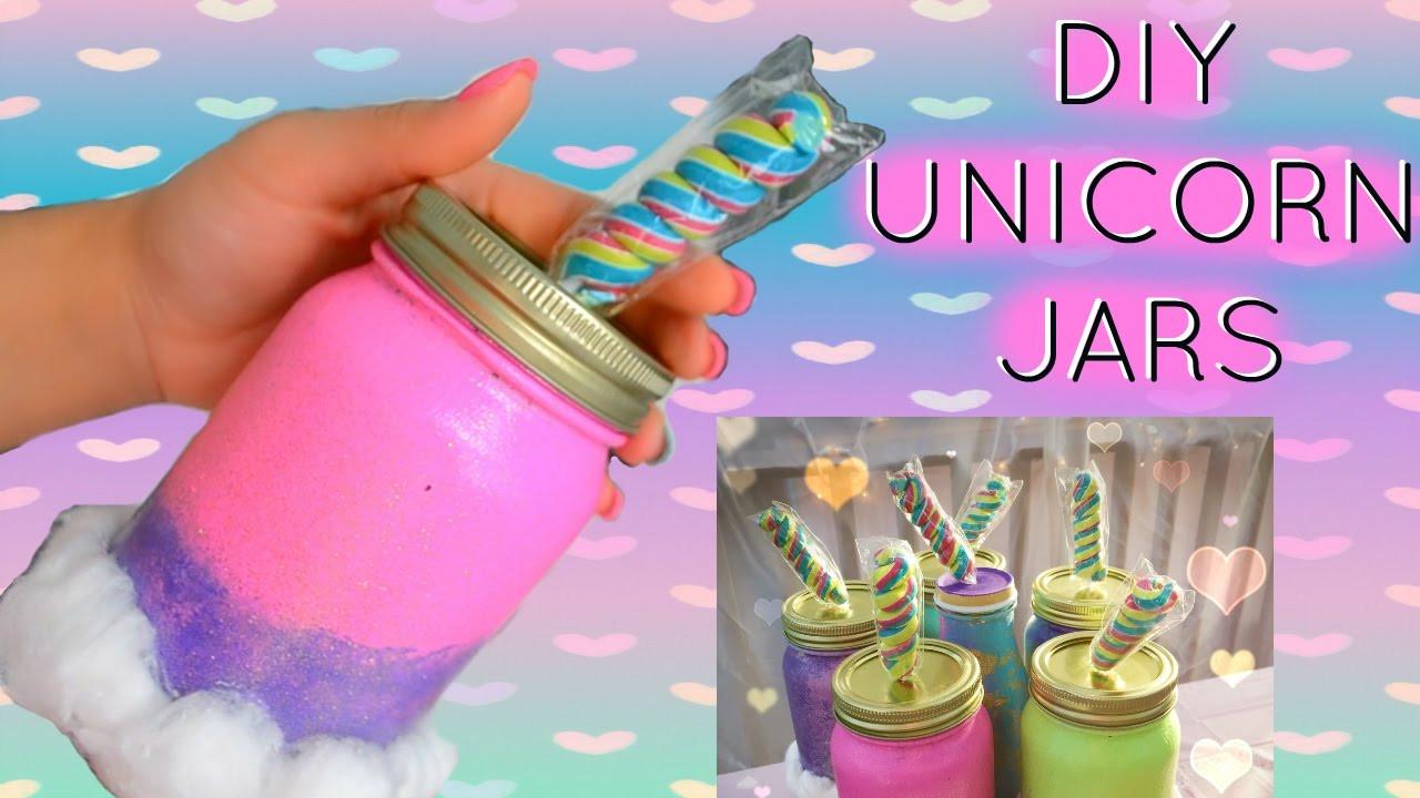 Diy Unicorn Party Ideas  DIY UNICORN MASON JARS UNICORN PARTY DECOR