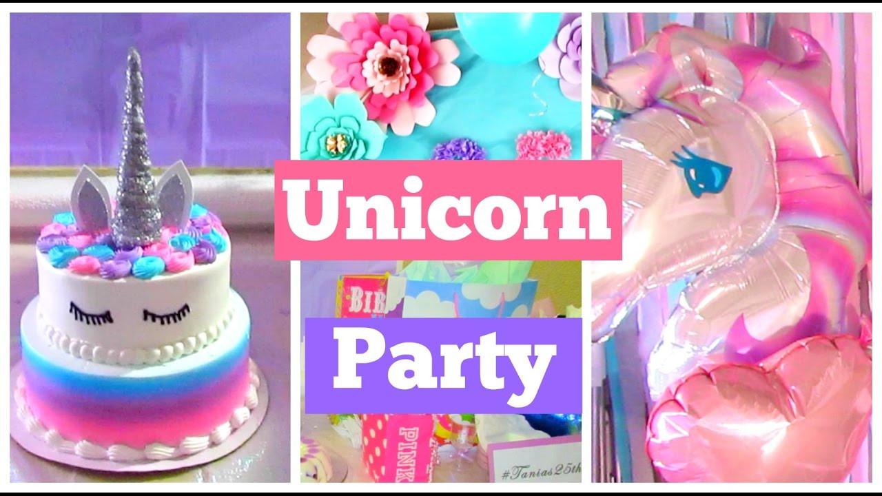 Diy Unicorn Party Ideas  My Unicorn Birthday DIY Cake Decorations