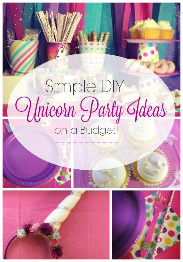 Diy Unicorn Party Ideas  Simple DIY Unicorn Party Ideas