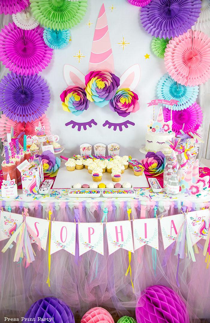 Diy Unicorn Party Ideas  Truly Magical Unicorn Birthday Party Decorations DIY