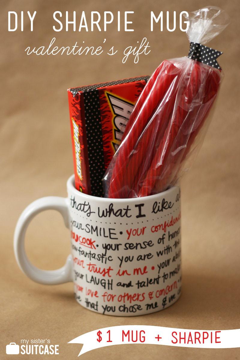 Diy Valentines Gift Ideas  DIY Sharpie Mug Valentine Gift My Sister s Suitcase