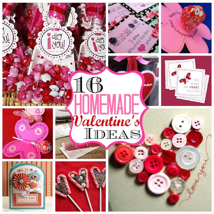 Diy Valentines Gift Ideas  16 Homemade Valentine's Ideas