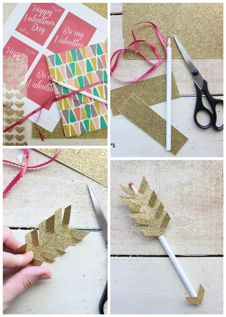 Diy Valentines Gift Ideas  Valentine s Day Arrow Pencil