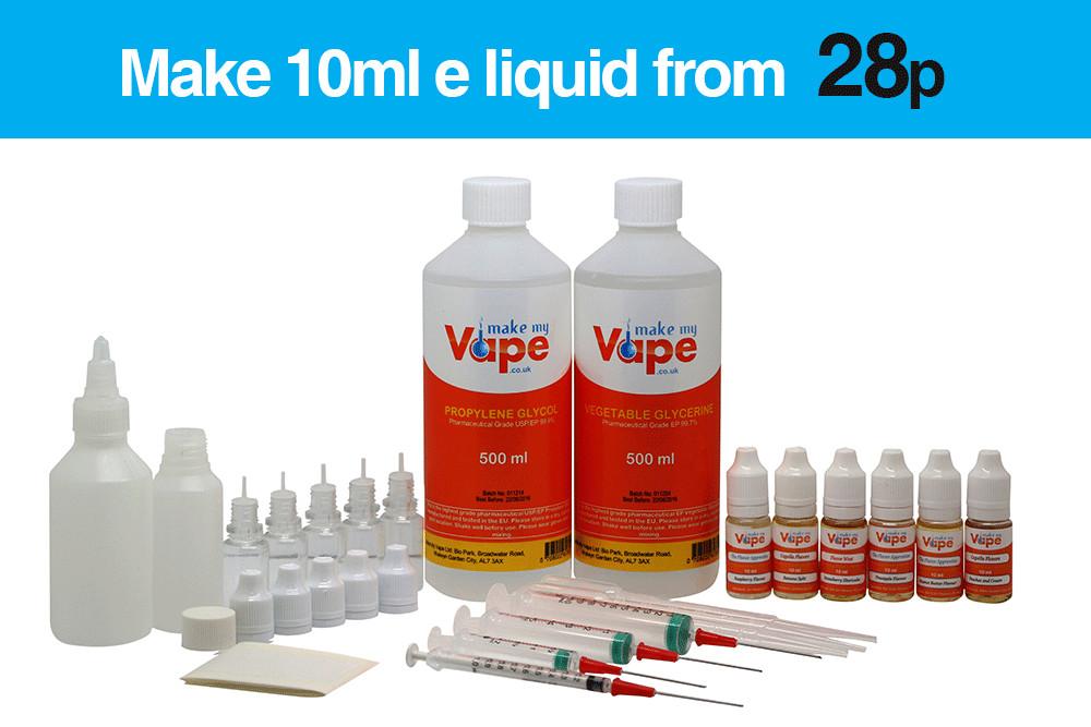DIY Vape Juice Kits  X Kit DIY E Liquid Mixing Kits
