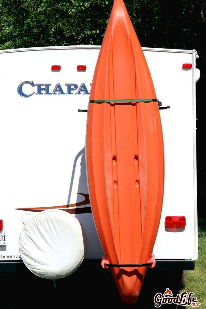 DIY Vertical Kayak Rack For Rv  Vertiyak RV Kayak Rack Good Life RV