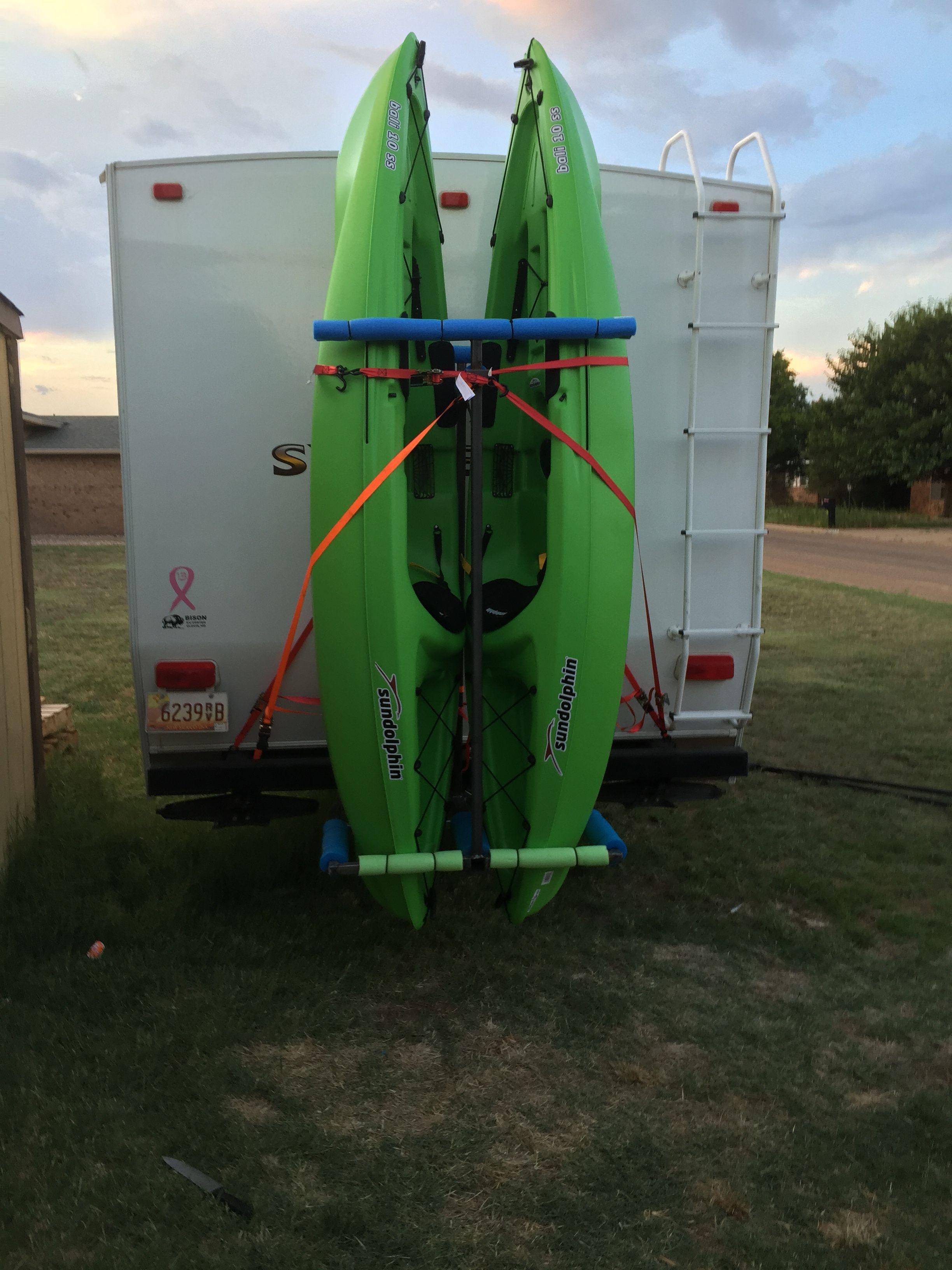 DIY Vertical Kayak Rack For Rv  Pin by Lisa Langtimm Leos on Kayak Stuff