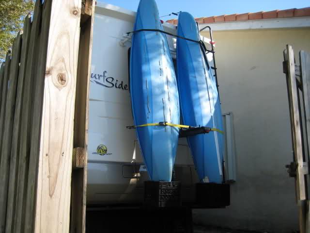 DIY Vertical Kayak Rack For Rv  RV Net Open Roads Forum Class A Motorhomes Homemade