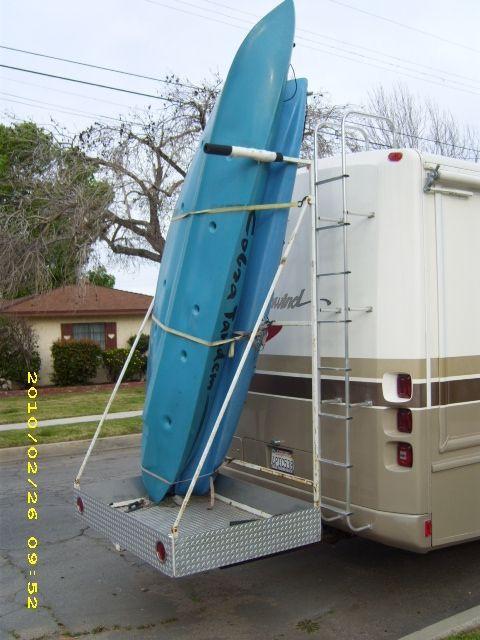 DIY Vertical Kayak Rack For Rv  14 best DIY RV Kayak Rack images on Pinterest