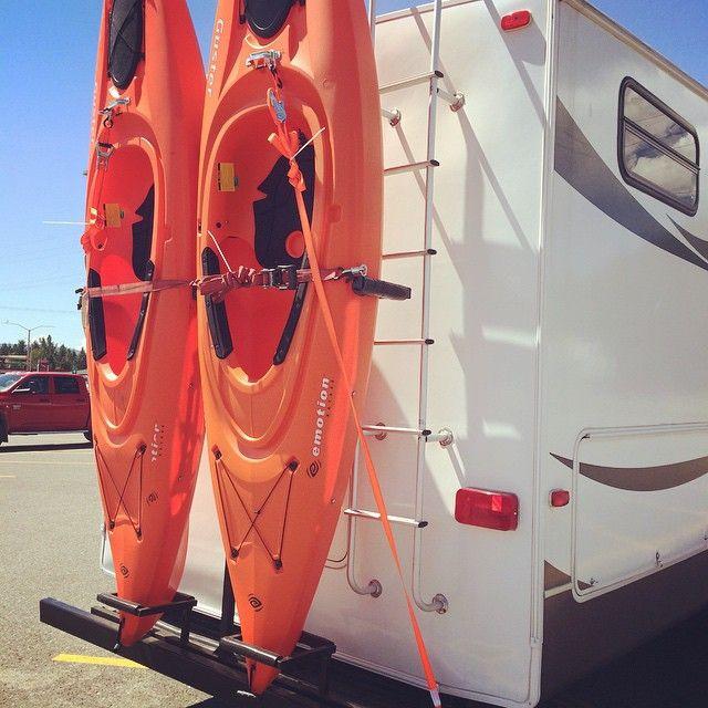 DIY Vertical Kayak Rack For Rv  rv must haves