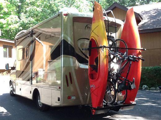 DIY Vertical Kayak Rack For Rv  WEL E TO RVKAYAKRACKS THE FIRST VERTICAL RV KAYAK