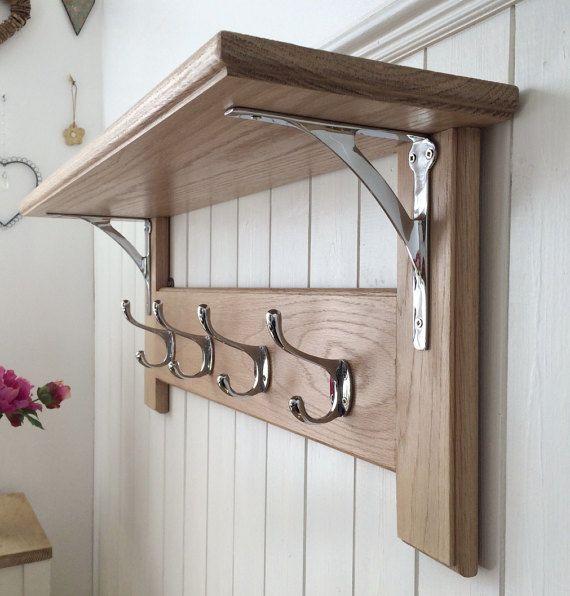 DIY Wall Mounted Coat Rack With Shelf  Best 25 Wall mounted coat rack ideas on Pinterest