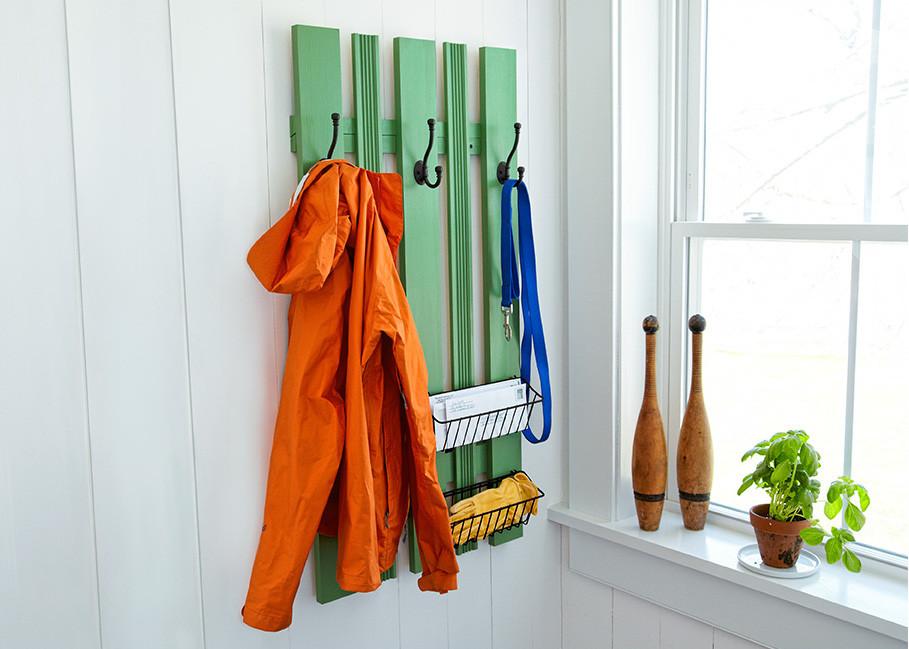 DIY Wall Mounted Coat Rack With Shelf  DIY Wall Mounted Coat Rack House e