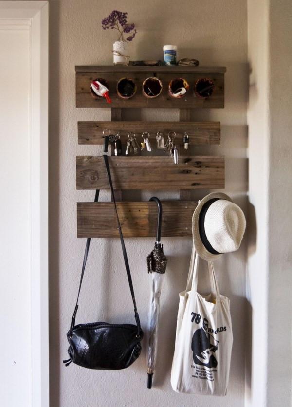 DIY Wall Mounted Coat Rack With Shelf  Functional and cool wall mounted coat rack ideas for your