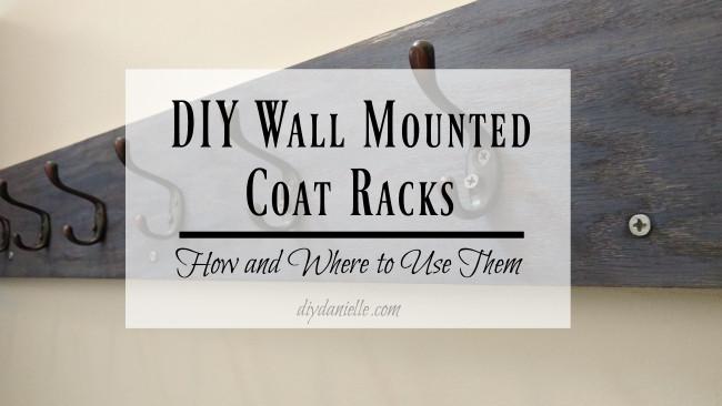 DIY Wall Mounted Coat Rack With Shelf  DIY Wall Mounted Coat Racks