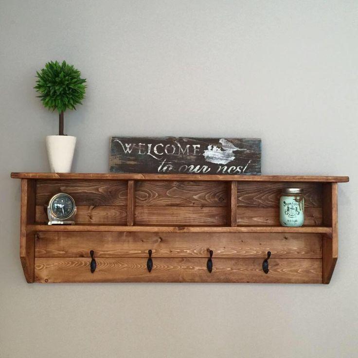 DIY Wall Mounted Coat Rack With Shelf  Best 25 Wall coat hooks ideas on Pinterest