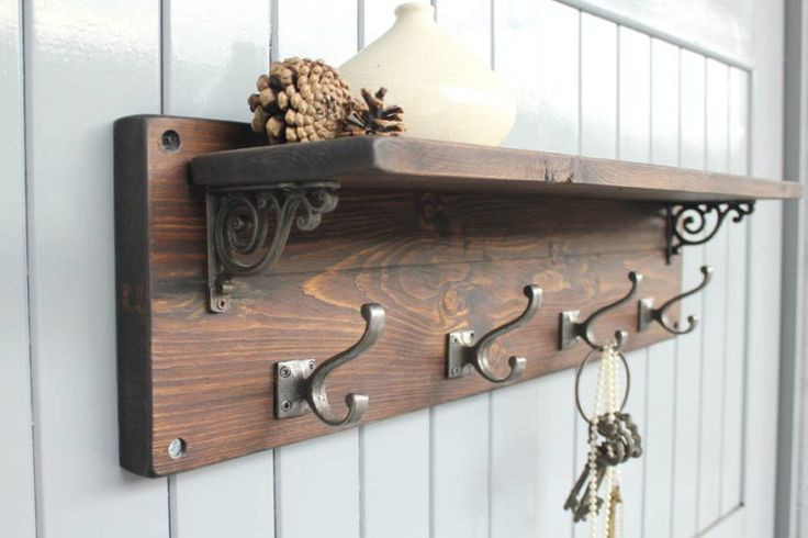 DIY Wall Mounted Coat Rack With Shelf  25 unique Wooden coat hangers ideas on Pinterest