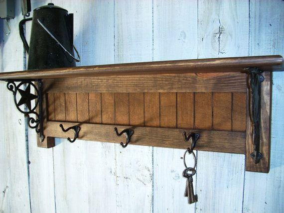 DIY Wall Mounted Coat Rack With Shelf  coat rack DIY shelf bracket Google Search