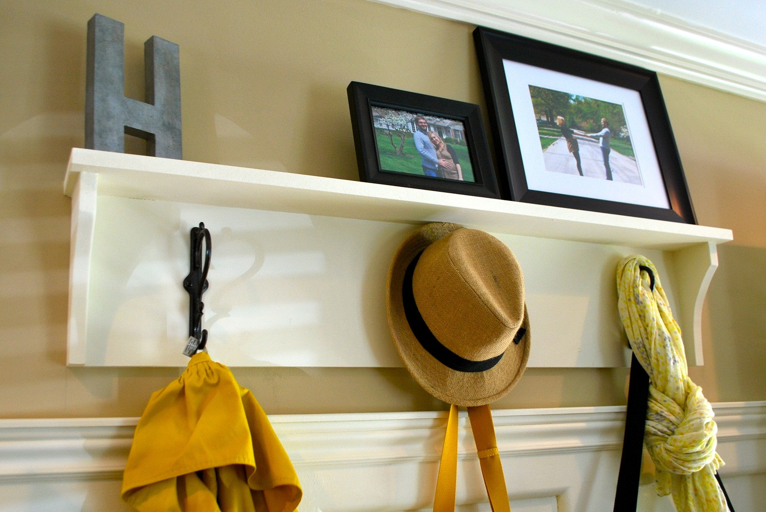 DIY Wall Mounted Coat Rack With Shelf  Interesting DIY Coat Racks to Use in Your Home