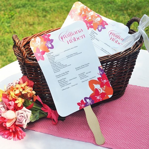 DIY Wedding Fan  DIY Wedding Program Fans Kit with Design Template