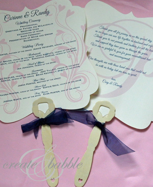 DIY Wedding Fan  DIY Wedding Programs Create and Babble